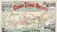 This 1887 map shows the Grand Trunk Railway after Confederation. (Library and Archives Canada)