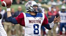 Quarterback Josh Neiswander has started three games in a row for the Montreal Alouettes. (JASON FRANSON/THE CANADIAN PRESS)