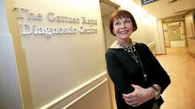 Emmanuelle Gattuso and husband Allan Slaight donated $13.9-million for a rapid dianostic centre at the Princess Margaret Hospital in Toronto. (Deborah Baic/Deborah Baic/The Globe and Mail)