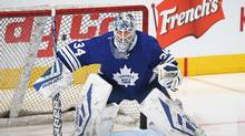 The Toronto Maple Leafs' most interesting pending free agents are netminder James Reimer and winger P.A. Parenteau. (Claus Andersen/Getty Images)