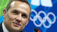In this Feb. 13, 2010, file photo, Steve Yzerman, executive director Canada's Olympic men's hockey team speaks to reporters during a news conference at the 2010 Vancouver Olympic Winter Games in Vancouver, B.C. (Ryan Remiorz)