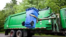 RecycleSmart Solutions makes a device that measures how full recycling bins are, so they are not emptied prematurely. (RecycleSmart Solutions Inc.)