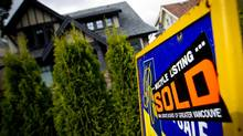 A new study by the C.D. Howe Institute argues that lower mortgage payments sends the wrong signal about inflation, since lower interest rates support higher house prices. (DARRYL DYCK For The Globe and Mail)