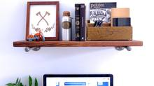 The Industrial Pipe Bookshelf adds a nice rustic touch to a room. (Karen Robock for The Globe and Mail)