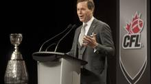 CFL Commissioner Mark Cohon gives his state of the league address to media on Friday November 22, 2013 in Regina. (Liam Richards/THE CANADIAN PRESS)