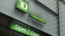 Toronto-Dominion Bank was once again the highest ranked of the big five Canadian banks in the annual consumer survey. (SHANNON STAPLETON/REUTERS)