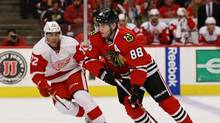 Despite making trades because of the salary cap, Patrick Kane and the Blackhawks are always a force to be reckoned with. (Jonathan Daniel/Getty Images)