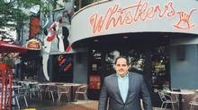 Steven Mastoras, owner of Whistler's Grille & The McNeil Room in Toronto, says Ontario's planned minimum-wage increase will mean fewer jobs for seasonal employees and reduced work hours in general. (Whistler's Grille)