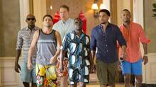 Think Like a Man Too is intermittently fun and funny. Zeke (Romany Malco), Bennett (Gary Owen) , Michael (Terrence J), Jeremy (Jerry Ferrara), Zeke (Romany Malco) and Dominic (Michael Ealy) walk down the hallway of Caesar's Palace in Screen Gems' THINK LIKE A MAN TOO. Credit: Sony Pictures (Matt Kennedy)