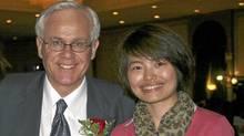 Conservative MP Bob Dechert and Chinese journalist Shi Rong