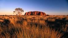 Uluru (Ayers Rock) in Australia. (Glen Allison/©PHOTODISC)