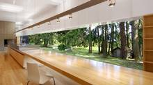The interior of Linear House by Patkau Architects on Saltspring Island, B.C.