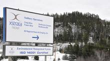 A sign shows the entrance to Xstrata Nickel's Sudbury, Ont. operations in Onaping. (Gino Donato/The Canadian Press)