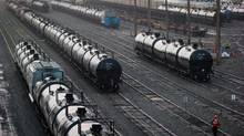 Shipments of crude and fuel oil by rail tumbled nearly 11 per cent in July, to 11,920 cars from 13,339 in June. (DARRYL DYCK FOR THE GLOBE AND MAIL)