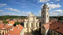 A view of St. John's Church and the campus at the University of Vilnius in Lithuania. (Alamy/Alamy)
