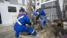 Savanna Energy workers are seen in this file photo. (Savanna Energy)