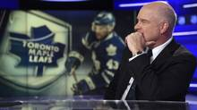 Scott Moore, president of Sportsnet at Rogers Media, is pictured during an interview at Rogers Sportsnet's new NHL broadcast studio in Toronto. (Fred Lum/The Globe and Mail)