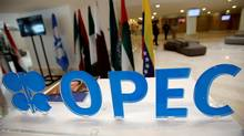 OPEC logo is pictured ahead of an informal meeting between members of the Organization of the Petroleum Exporting Countries (OPEC) in Algiers. (© Ramzi Boudina / Reuters/REUTERS)