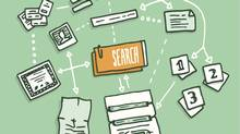 Data search algorithm gathering digital information (CurvaBezier/Getty Images/iStockphoto)