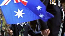 A war veteran marches in the annual Anzac (Australian and New Zealand Army Corps) Day march in Sydney, April 25, 2007. (DAVID GRAY/REUTERS)