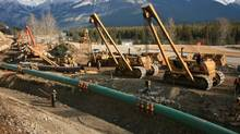 Work under way on a section of the existing Trans Mountain pipeline (Kinder Morgan)