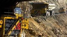 aul trucks are seen at the Newcrest Mining Cadia gold mine, Australia