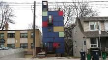 Rohan Walters-designed home, 157 Coxwell Ave., Toronto. Street view. (Dave LeBlanc)