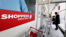 Shoppers Drug Mart location at Woodbine and O'Connor Avenues in Toronto. (Deborah Baic/Deborah Baic/The Globe and Mail)
