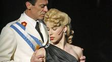 Juan Chioran as Juan Peron and Chilina Kennedy as Eva Peron in Evita. (David Hou)