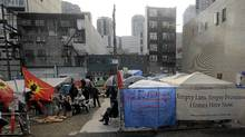 A tent city that was pitched in Vancouver by homeless and poverty protesters during the 2010 Winter Olympics. (Filippov Alexei/Filippov Alexei)