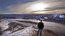 The area of the Peace River where the proposed Site C Hydro Development Dam would be built near Fort St. John, B.C. (Deborah Baic/The Globe and Mail)