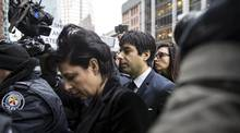 Former Canadian radio host Jian Ghomeshi arrives court with his attorney Marie Henein (L), in Toronto, March 24, 2016. (STRINGER/REUTERS)