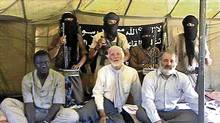 This exclusive photo is taken from a video made by the al-Qaeda terrorists who kept Robert Fowler and Louis Guay in captivity for 130 days.