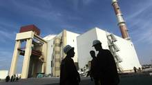 The reactor building at the Russian-built Bushehr nuclear power plant in southern Iran, 1200 Kms south of Tehran, where Iran has began to unload fuel for the nuclear power plant on October 26, 2010, a move which brings the facility closer to generating electricity after decades of delay. (MAJID ASGARIPOUR/AFP/Getty Images)