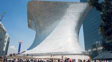 Designed by architect Fernando Romero, the arresting Museo Soumaya is covered in 16,000 aluminum tiles. (Adam Wiseman for The Globe and Mail)