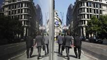 London's financial district. (Lefteris Pitarakis/Lefteris Pitarakis/Associated Press)