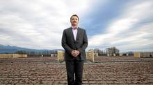 Onni Group's Mike Mackay on Walmart's green roof in Port Coquitlam, B.C. (Rafal Gerszak/Rafal Gerszak for The Globe and Mail)