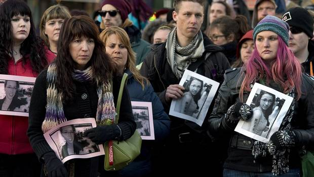 Several hundred people attend a community vigil to remember Rehtaeh Parsons at Victoria Park in Halifax on April 11, 2013. The 17-year-old died by suicide after months of bullying that followed an alleged sexual assault. (Andrew Vaughan/THE CANADIAN PRESS)