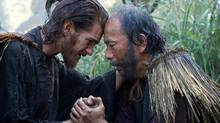 Andrew Garfield, left, and Shinya Tsukamoto star in Michael Scorsese's Silence, a film that centres on its characters' struggle with faith and religion. (Photo credit: Kerry Brown)