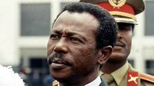 "Former Ethiopian president Mengistu Haile Marian, is seen in Ethiopia, in this Aug. 9, 1990 file photo. Mariam, the Ethiopian dictator who directed the ""Red Terror"" against supposed enemies of his Soviet-backed regime, was convicted Tuesday, Dec. 12, 2006, of genocide in a rare case of an African strongman being called to account by his own country. Mengistu has been living in exile in Zimbabwe since 1992 and was convicted in absentia after a 12-year trial. (ARIS SARIS/AP)"