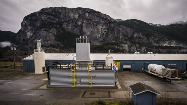 Carbon Engineering's pilot plant: It is removing carbon from the atmosphere and soon will transform it into energy-rich fuel for heavy transport vehicles.