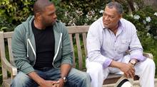"Andre 'Dre' Johnson (Anthony Anderson) and his dad (Laurence Fishburne) are pictured in the scene of the pilot episode of ""Black-ish"". The comedy is among four new prime-time series headed to City this fall, while weekend nights will be packed with hockey. (Adam Taylor/THE CANADIAN PRESS)"