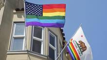 Flags are photographed in San Fransisco's Castro neighbourhood (Thinkstock)