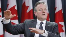 Bank of Canada Governor Stephen Poloz speaks during a news conference in this file photo.