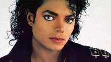 Micheal Jackson poses in a photograph from his Bad era.