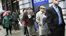 People wait in line to enter a job fair in New York City in this photo from 2010. (Shannon Stapleton/REUTERS)