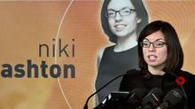 NDP MP Niki Ashton announces her candidacy for the party's leadership on Nov. 7, 2011 in Montreal. (Paul Chiasson/THE CANADIAN PRESS)