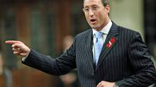 Defence Minister Peter MacKay stands during Question Period in the House of Commons on Monday, November 30, 2009. (FRED CHARTRAND)