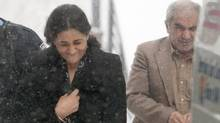 Tooba Yahya and Mohammad Shafia leave the Frontenac county courthouse in Kingston Ontario on Friday Jan. 13, 2012. (Lars Hagberg/THE CANADIAN PRESS/Lars Hagberg/THE CANADIAN PRESS)