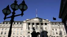 A general views shows the Bank of England in London. (STEPHEN HIRD/REUTERS)